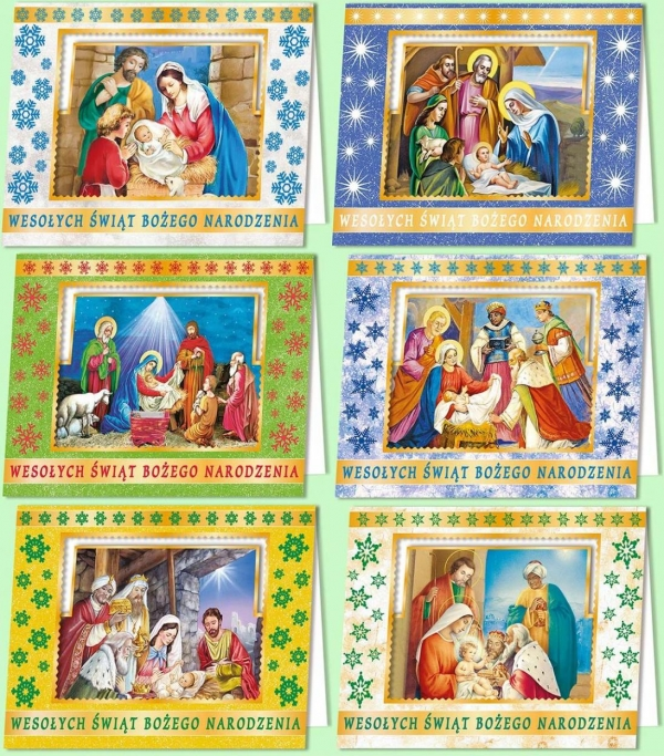 Karnet B6 Boże Nar. 3D Religia (10sz) MIX