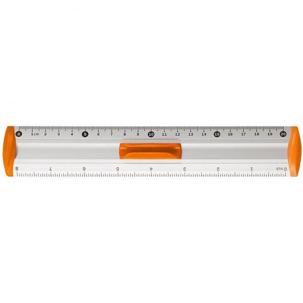 Linijka aluminiowa Tetis 20cm - pomarańczowa (BL040-PB)
