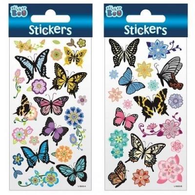 Naklejki Sticker BOO - Motyle i kwiaty