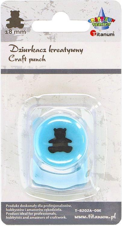 Dziurkacz Titanum Craft-fun kreatywny 18mm miś turkusowy