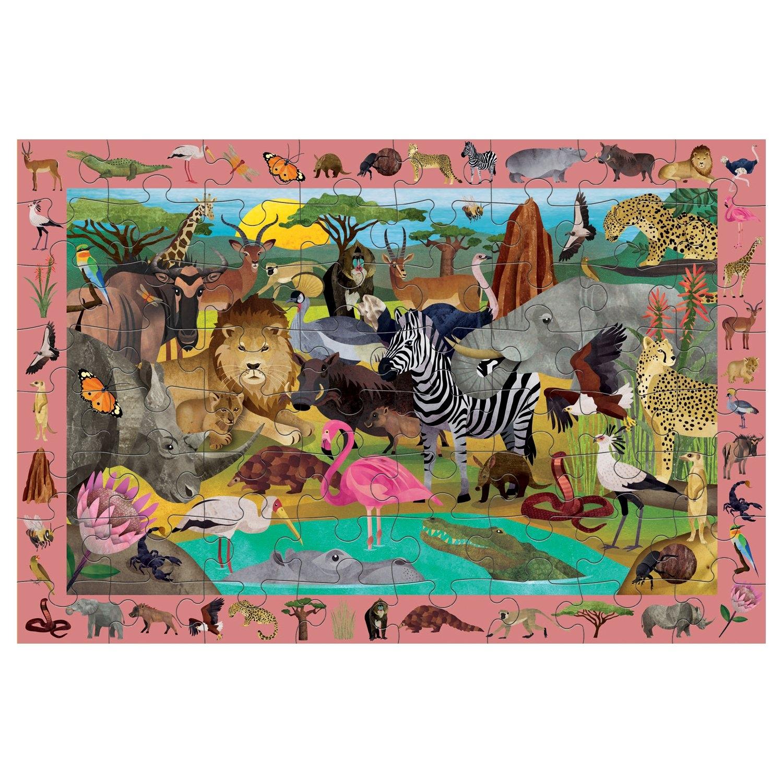 Mudpuppy, puzzle obserwacyjne 64: Afrykańskie safari (MP65704)
