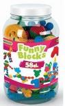 Klocki Funny Blocks - słoik 58 elementów (41970)