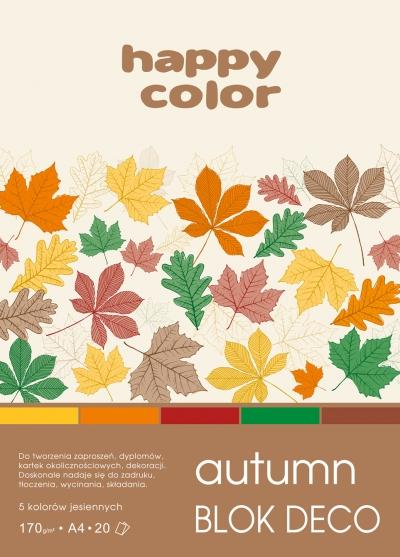Blok deko autumn A4 170g 20ark 5 kolorów