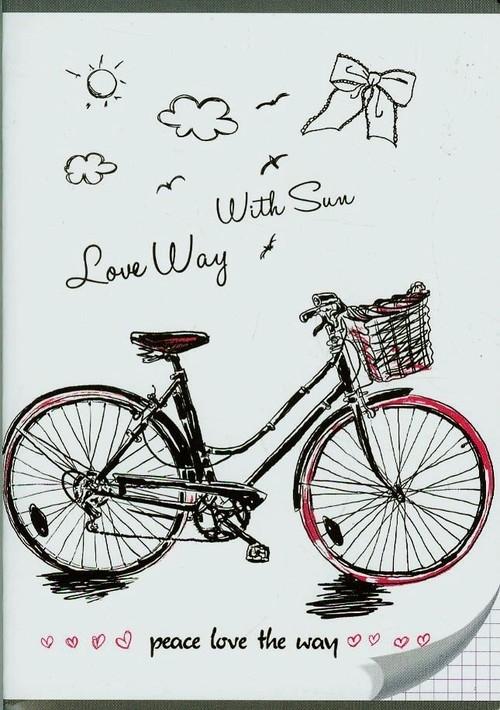 Zeszyt A5 w kratkę 96 kartek Rower
