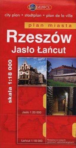 Rzeszów Jasło Łańcut plan miasta 1:18 000