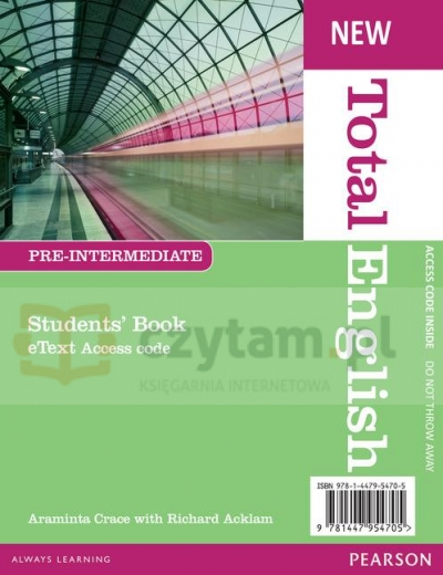 Total English NEW Pre-Inter SB eText AccessCode