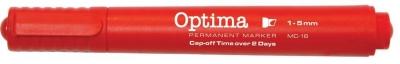 Marker pemanentny MC-16 czerwony (12szt) OPTIMA