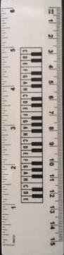 Linijak białą - klawiatura 15 cm