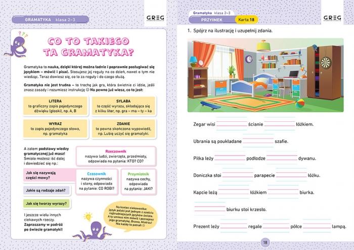 Gramatyka. Karty pracy w szkole i w domu - klasy 2-3 Marta Kurdziel