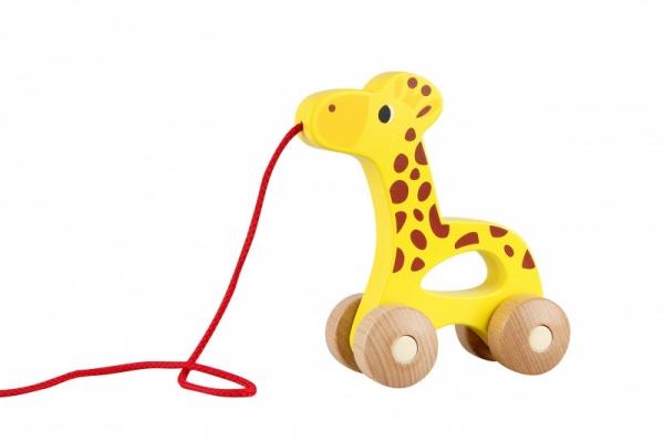 Żyrafa do ciagnięcia na sznurku Drewniana (13001)