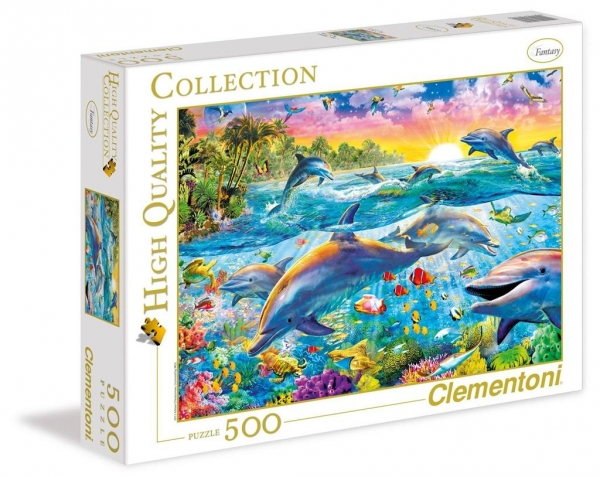 Puzzle 500 High Quality Collection Tropical Dolphins (30170)