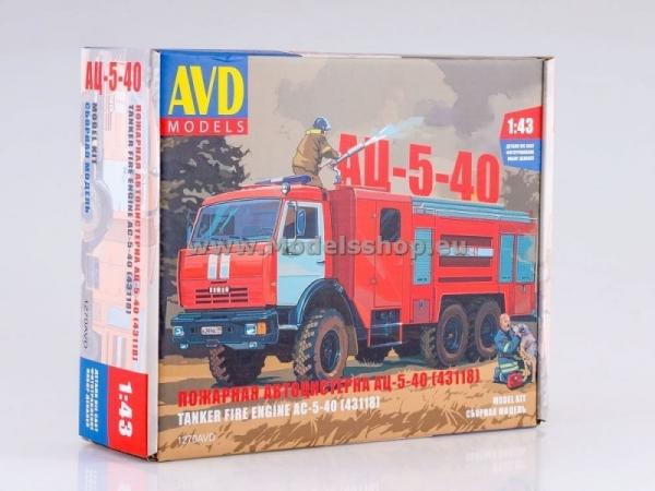 Fire Engine AC-5-40 (KAMAZ-43118) (model kit) (KIT1270)