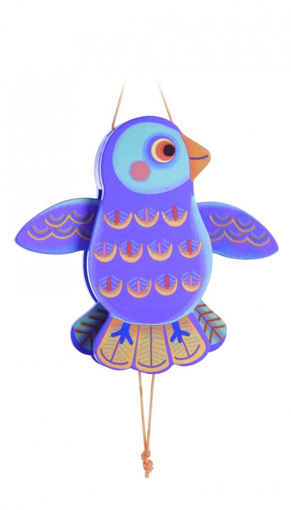 Drewniana kukiełka Ptak Tika (DJ06470)