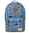 Plecak dwukomorowy niebieski Twarze
