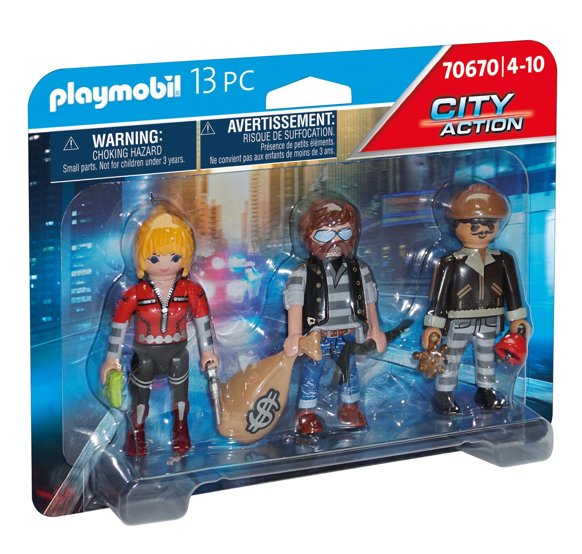 Playmobil City Action: Zestaw figurek: Złodzieje (70670)