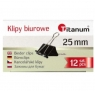 Klipy Titanum BC25 25mm, 12 szt. - czarne (71642)