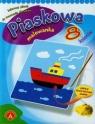 Piaskowa malowanka mini statek (0702)