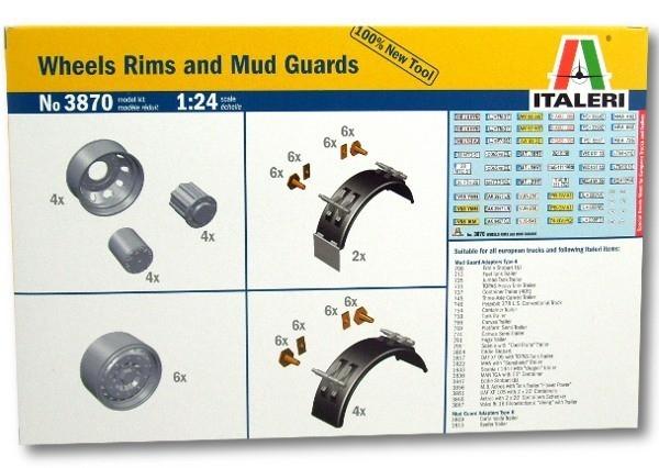 ITALERI Wheels Rims and Mud Guards