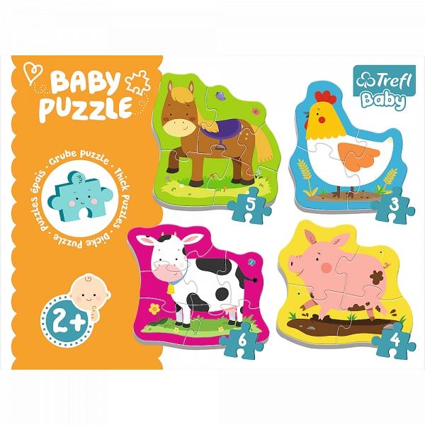 Puzzle Baby Classic: Zwierzęta na wsi (36070)