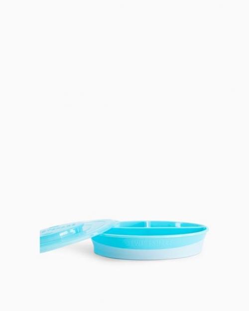 Twistshake Talerz z Przegródkami 6m+ Pastelowy Niebieski
