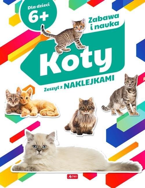 Koty Zeszyt z naklejkami