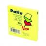 Notes samoprzylepny Patio, neonowy 75 x 75 mm, żółty (13086PTR)