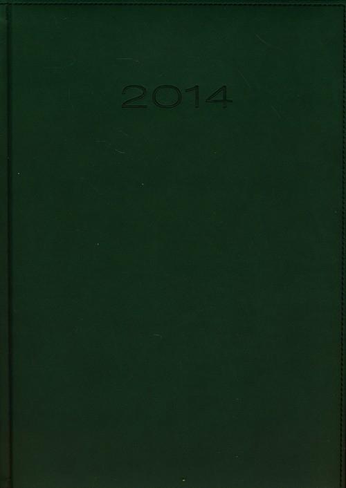 Kalendarz 2014 A4 31D Zielony duży dzienny