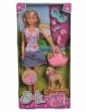 Lalka Steffi na spacerze z psami (105733310)