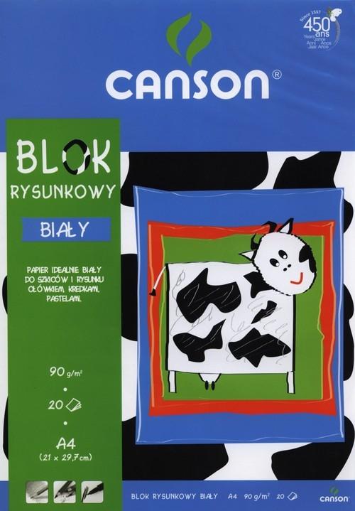 Blok rysunkowy A4 Canson 20 kartek niebieski