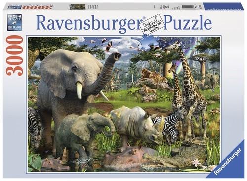 Puzzle Afrykańskie zwierzęta 3000 (170708)