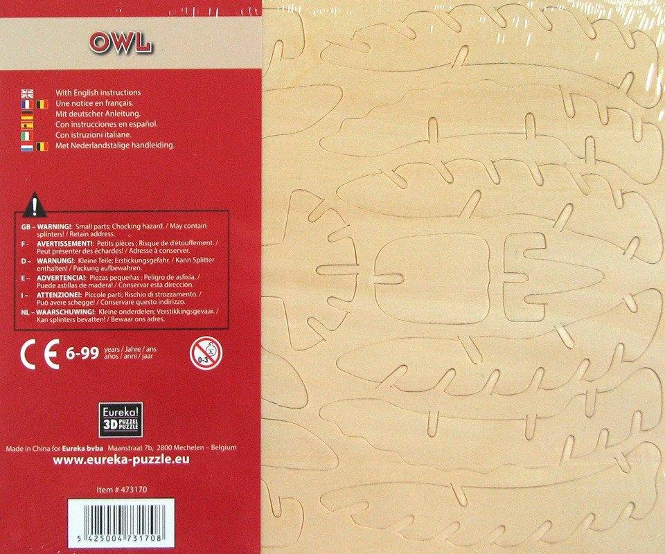 Łamigłówka drewniana Gepetto - Sowa (105687)