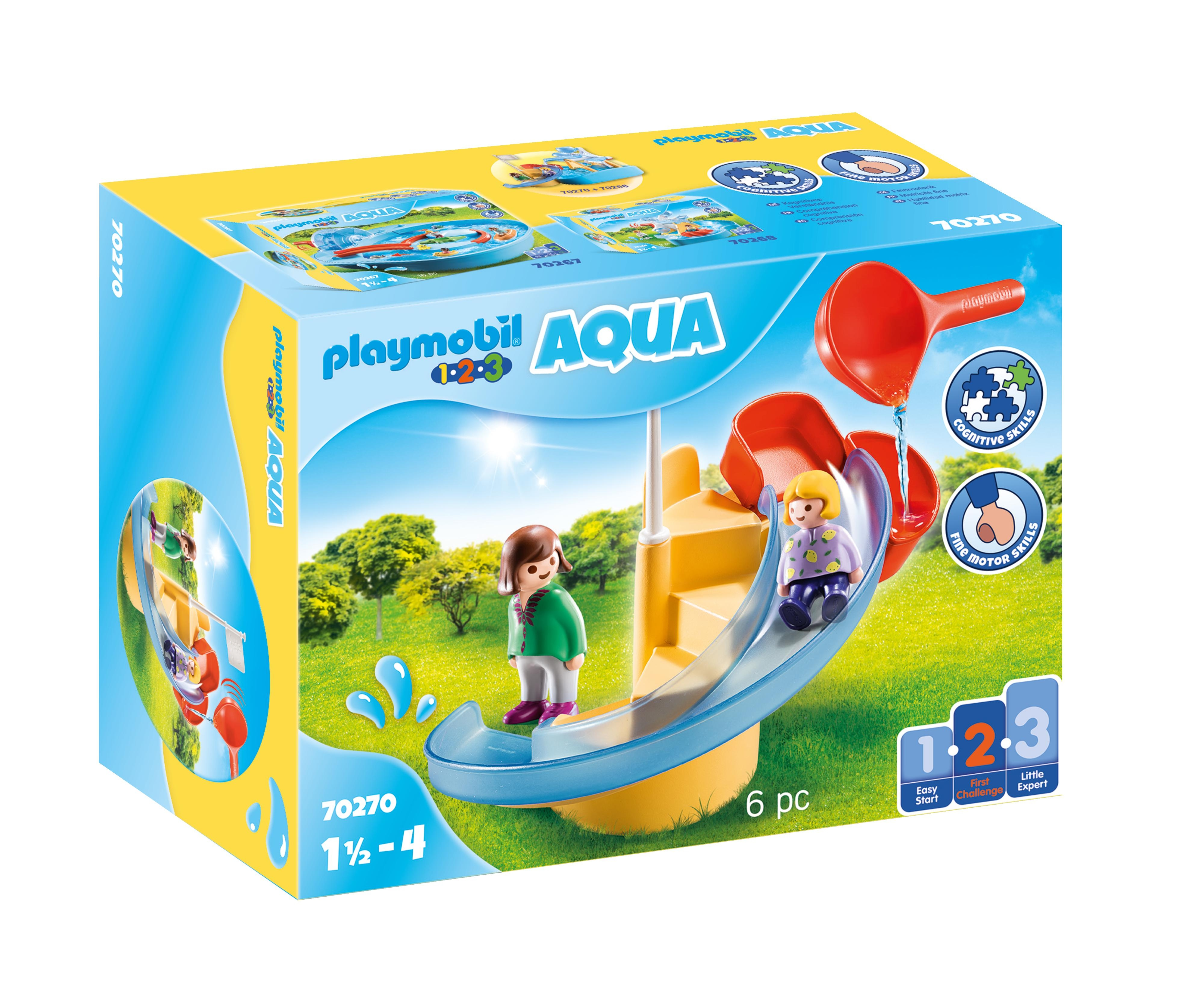 Playmobil 1.2.3 Aqua: Wodna zjeżdżalnia (70270)
