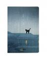 Notes A5/100K Kot stojący na dachu