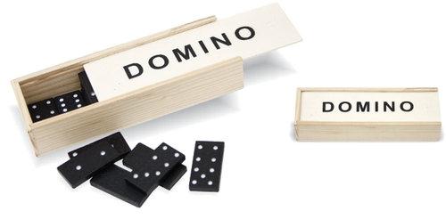 Domino w drewnianym pudełku