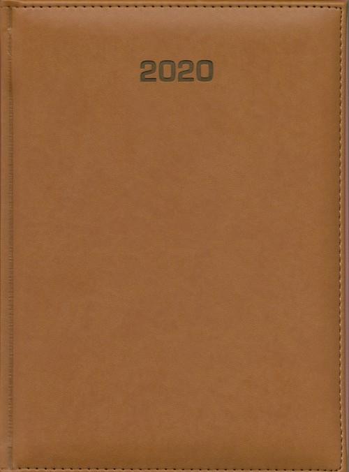 Kalendarz 2020 B5 tygodniowy Vivella jasny brąz