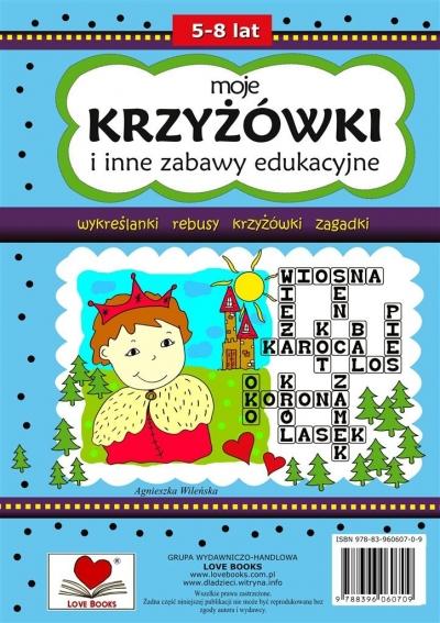 Moje krzyżówki i inne zabawy edukacyjne 5-8 lat Agnieszka Wileńska