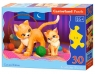Puzzle 30 konturowe: Cat and Kitten (B-03709)