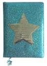 Notatnik A5 Shining Girl 80 kartek niebieski Gwiazda (STN 2640)