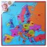Układanka drewniana z pinezkami Mapa Europy