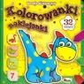 Kolorowanki naklejanki 7 Wesołe dinozaury