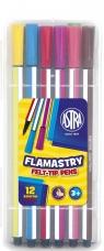 Flamastry heksagonalne 12 kolorów ASTRA