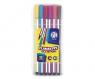 Flamastry heksagonalne w plastikowym pudełku - 12 kolorów (314115001)