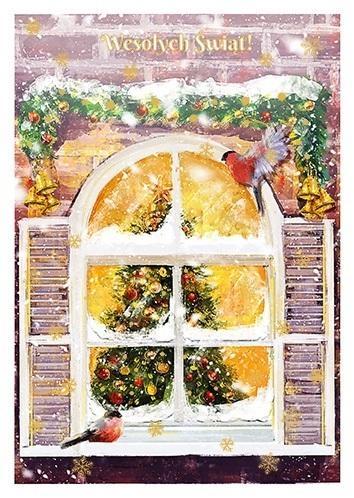 Karnet B6 Boże Narodzenie Okno
