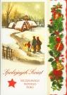 Karnet świąteczny BN B6 z opłatkiem MIX świecki i religijny DL LUX