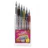 Długopisy żelowe z brokatem 6 kolorów (48471)
