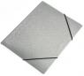 Teczka na gumkę A4 simple srebrna