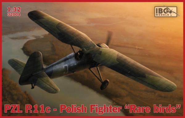 Model do sklejania IBG PZL P.11c Polish Fighter Rare Birds (32004)