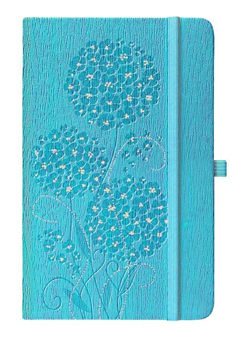 Notes A6 Ivory Geranium niebieski