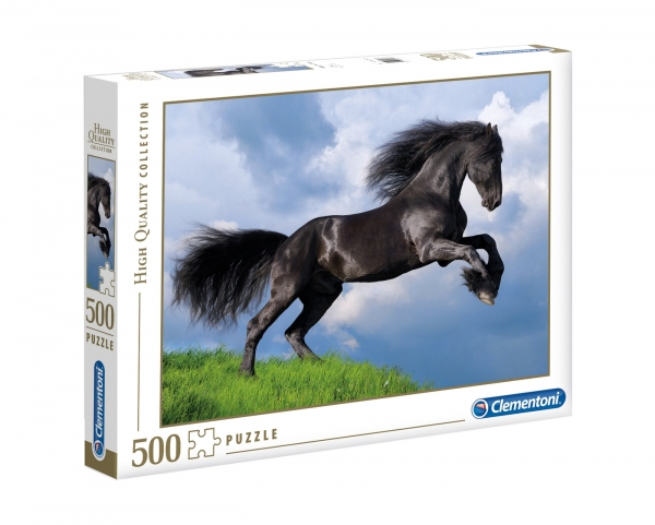 Puzzle High Quality Collection 500: Fresian Black Horse (35071)