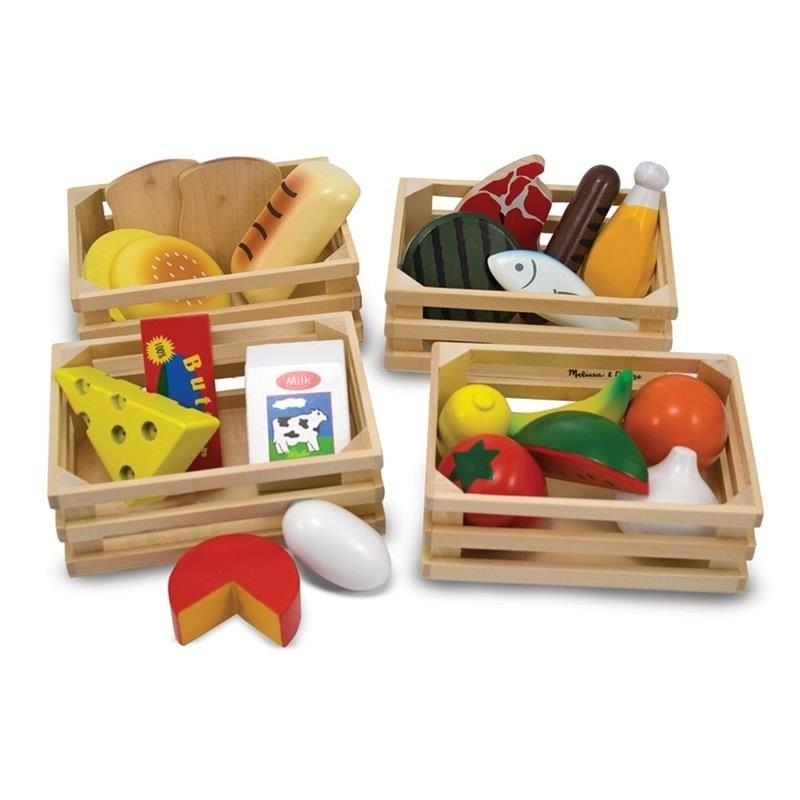 Drewniane artykuły spożywcze w skrzynkach (10271)